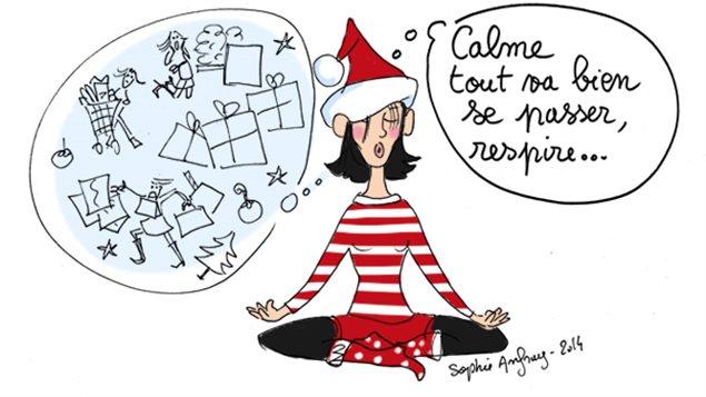 noel, temps des fêtes, stress, course, traditions, noel autrement